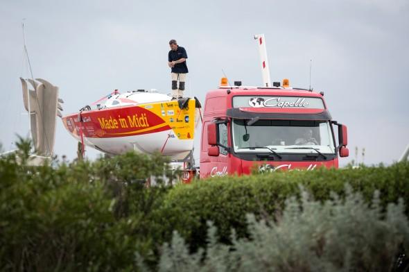 Préparation AG2R Chargement Transport bateau